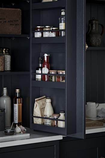 Concealed larder in painted shaker kitchen