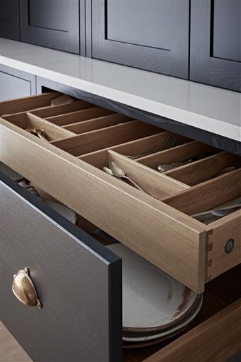 Solid oak internal drawers