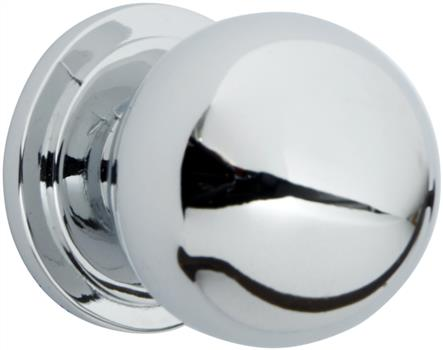 Chrome knob suitable for bespoke kitchen