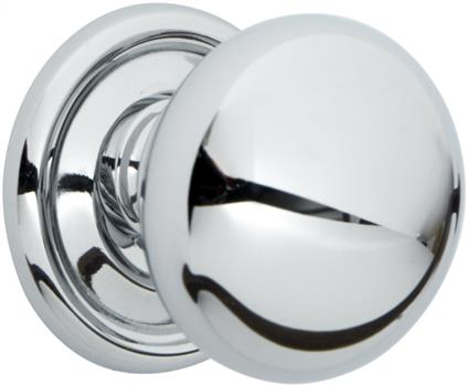 Chrome knob suitable for traditional kitchen