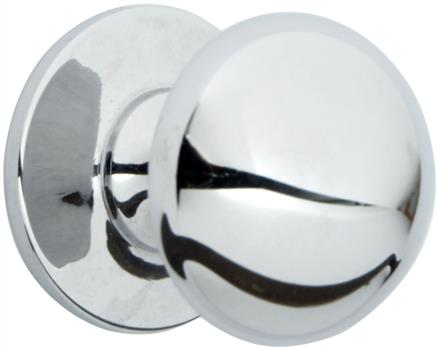 Chrome traditional kitchen door knob