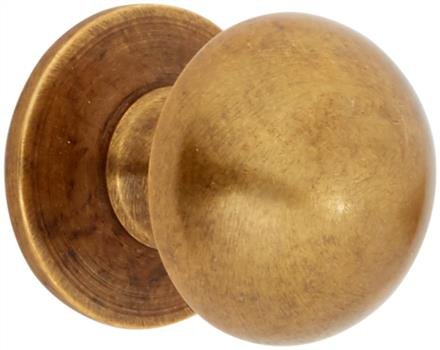 Traditional kitchen door knob in burnished bronze