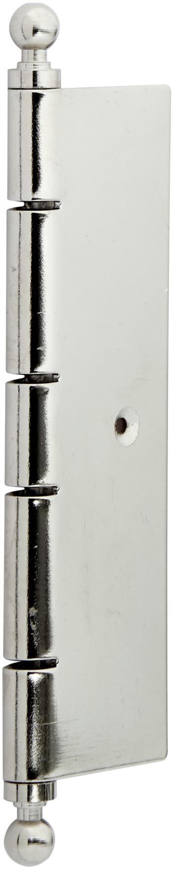 Traditional decorative butt hinge in polished chrome